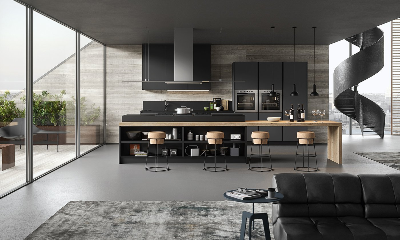 gallery cucine moderne outlet arreda arredamento. Black Bedroom Furniture Sets. Home Design Ideas